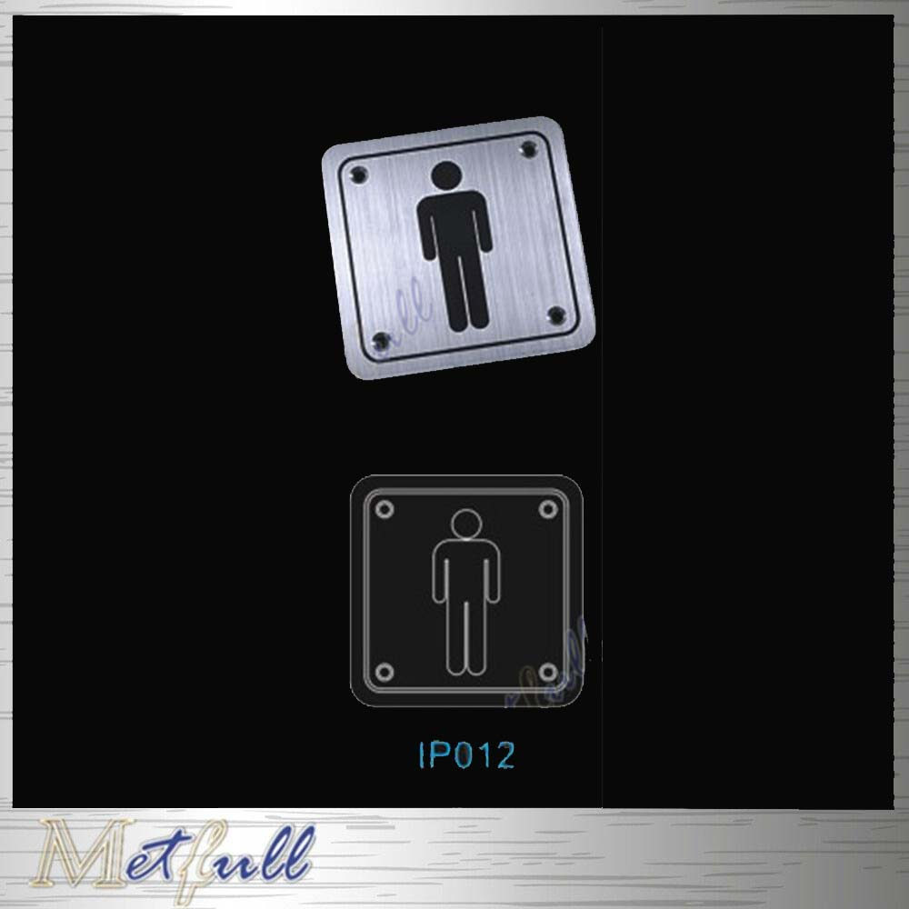 IP012 stainless steel male sign Square plate used on the doors