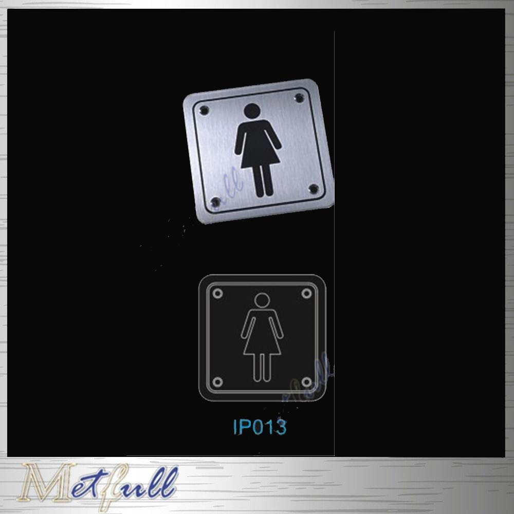 IP013 Stainless Stee Toilet Door Sign Plate With Adhesive Back