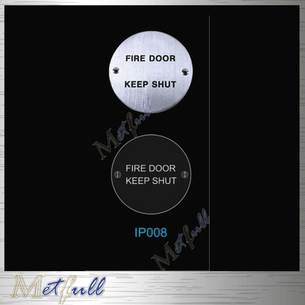 IP008 Stainless Steel Sign Round Plate On Door