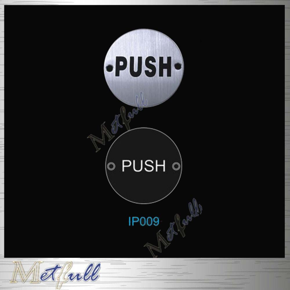 IP009 Stainless Steel Pull Push Sign Plate On Door